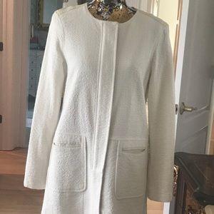 Sanctuary white tweed knee length coat